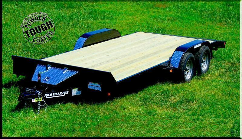 2019 Rice 82x18 Flatbed Car Hauler 10K -Dovetail