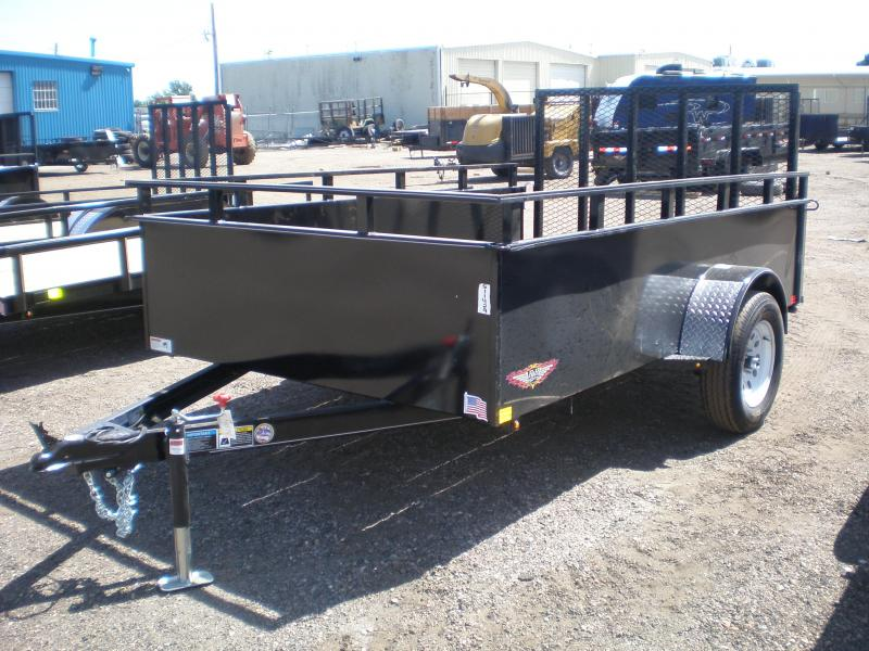 """2020 H and H 76X10 Utility Trailer - 24"""" Sides"""