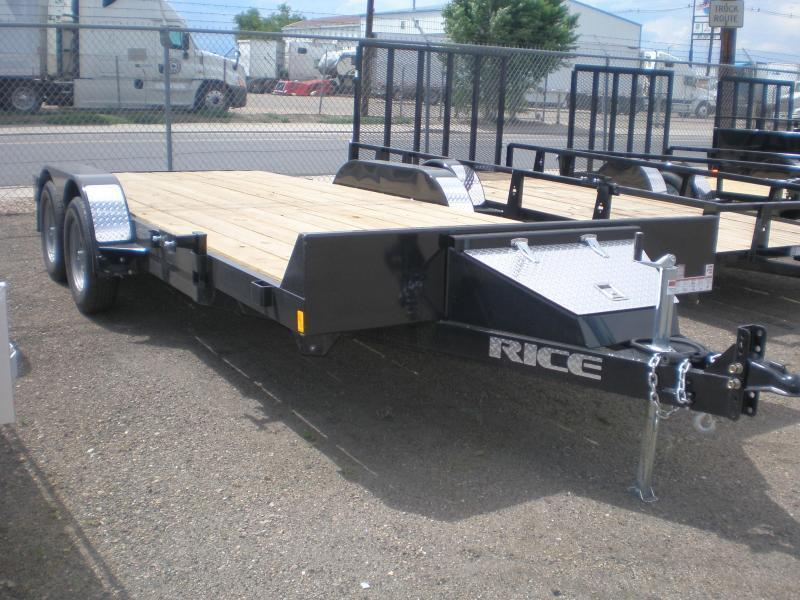 2020 Rice 82x18 Flatbed Car Hauler-No Dovetail