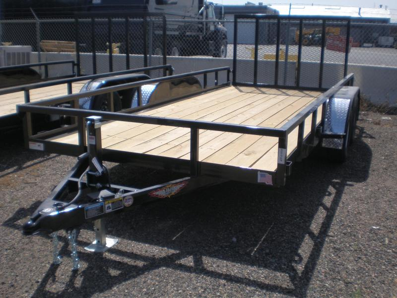 2020 H&H 82X16 Flatbed Utility Trailer