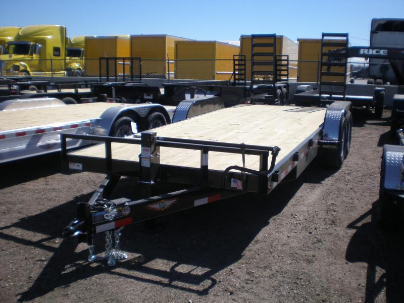 2019 H&H 82X20 Flatbed Equipment Trailer 14K