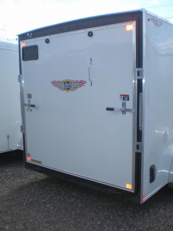 2019 H&H 7X14 Tandem V-Nose Enclosed Cargo Trailer