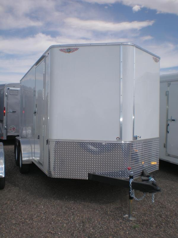 2019 H and H Trailer 7X14 Tandem Enclosed V-Nose Enclosed Cargo Trailer