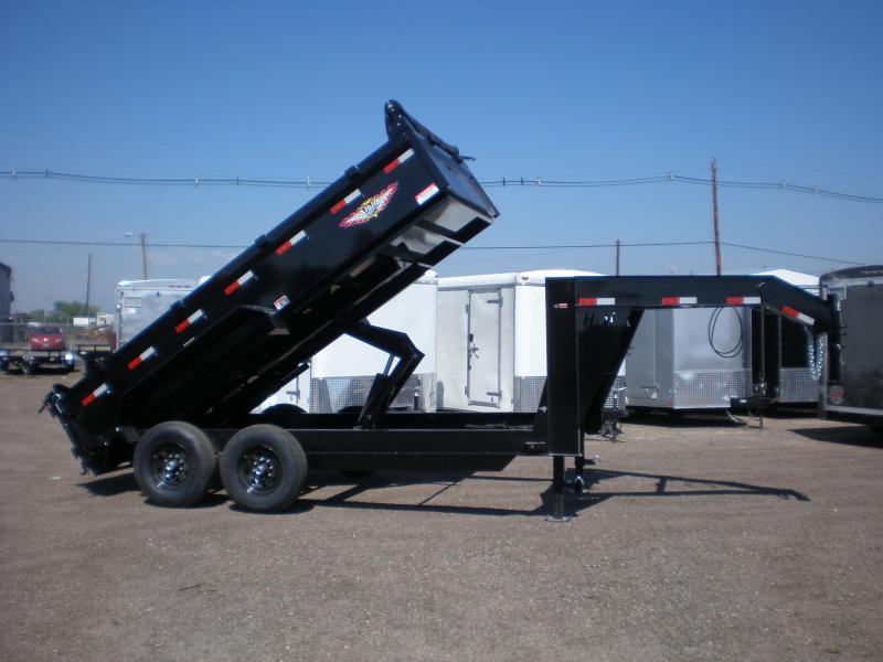2020 H&H 83x14' Gooseneck Dump Trailer 14K w/ 7 ga. Floor