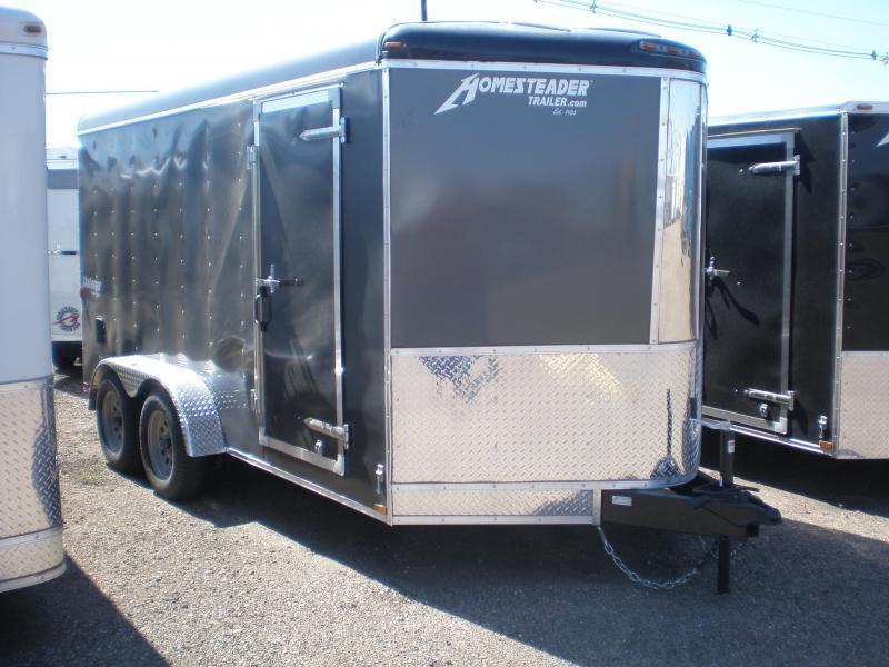 2020 Homesteader 7x14 Enclosed Cargo V Nose Trailer w/Ramp