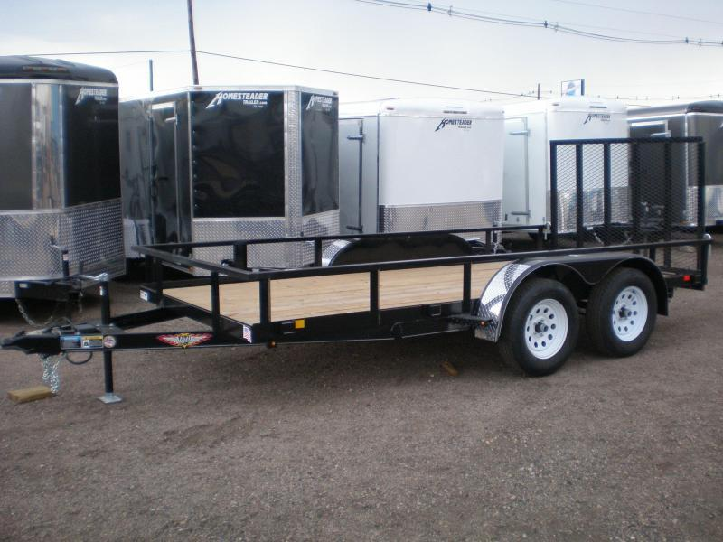 2019 H and H Trailer 76x14 Tandem Axle Utility Trailer