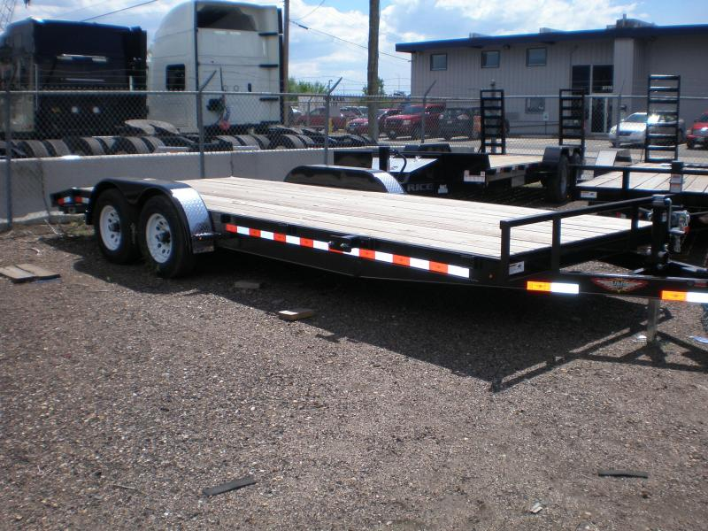 2020 H and H 82x18 Car Hauler 10K Car / Racing Trailer