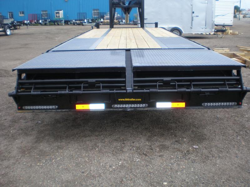 2019 H&H Trailer 30' Deckover w/Super Deluxe Ramps 22K