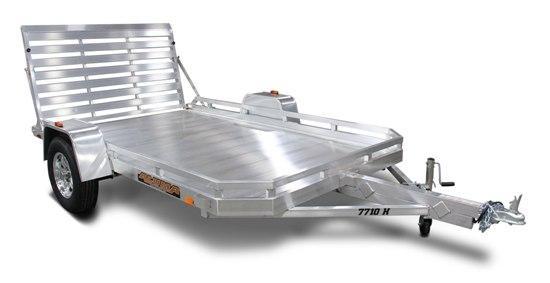 """Aluma 77"""" x 12' Heavy Axle Aluminum Trailer"""