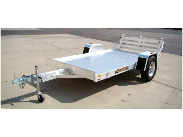 "Aluma 63"" x 10' Heavy Axle Aluminum Trailer with Bi-Fold Gate"