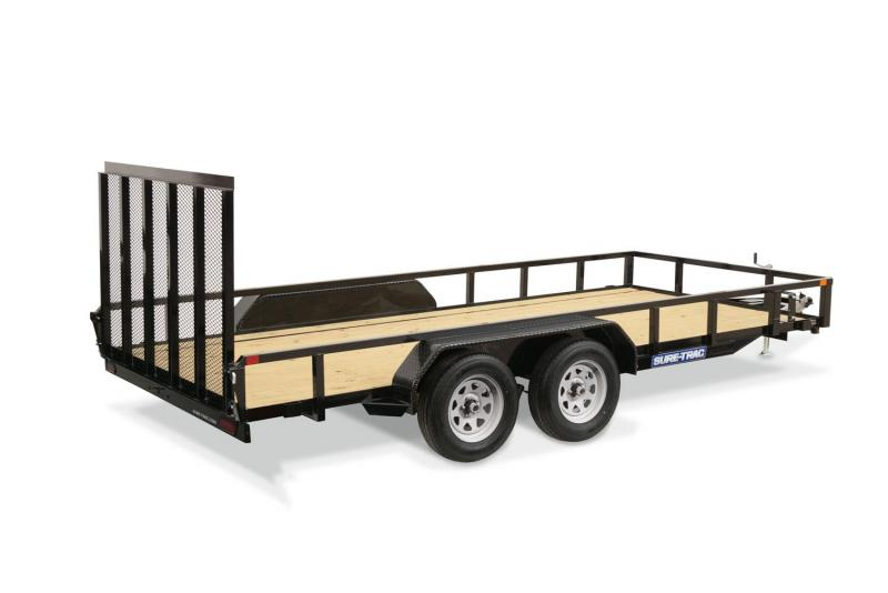 2020 Sure-Trac 7 X 20 7K TANDEM TUBE TOP Utility Trailer