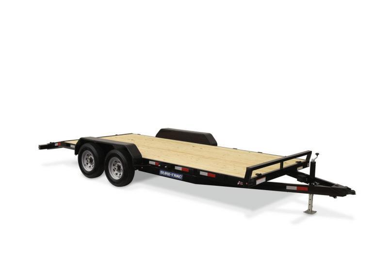 2020 Sure-Trac 7 X 20 10K CAR HAULER Equipment Trailer