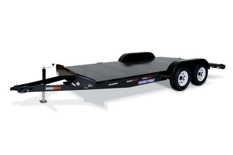 2018 Sure-Trac 82 x 20 Steel Deck Car / Racing Trailer