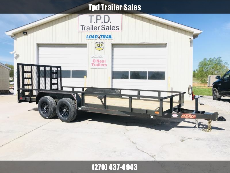 "2020 MAXXD 83""X18' Equipment Trailer"