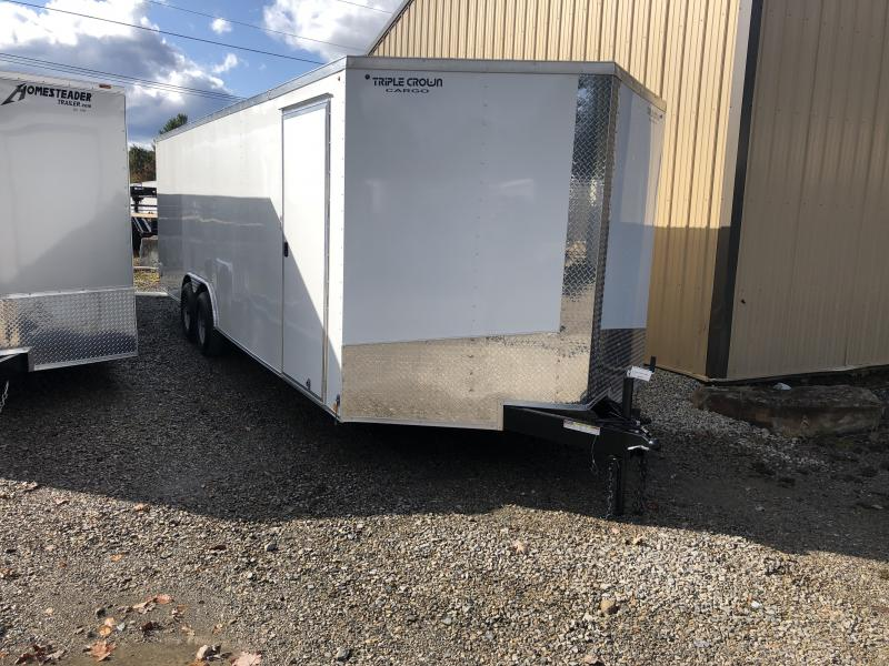 2020 Triple Crown Cargo 8.5x24 5 ton car hauler Enclosed Cargo Trailer