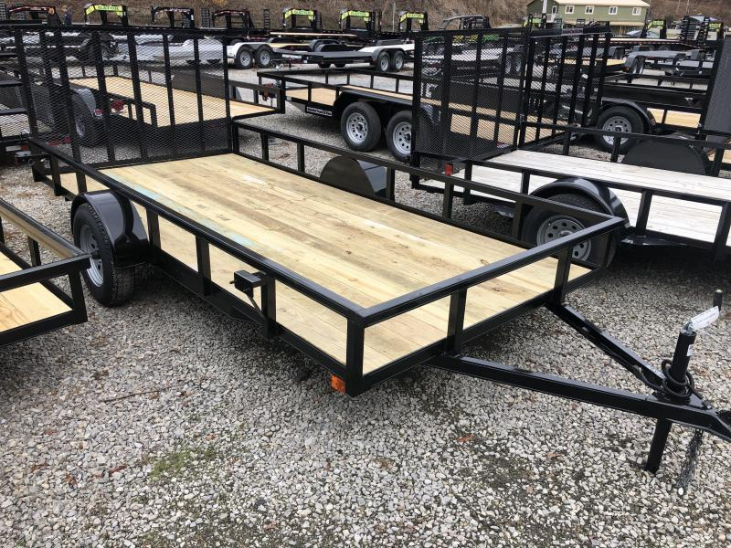 2020 Other (Not Listed) 76x14 gate HD Tube Top single axle Utility Trailer