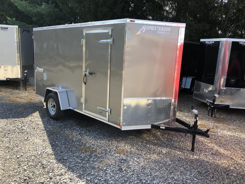 2020 Homesteader Inc. 6x12 intrepid single axle ramp Enclosed Cargo Trailer