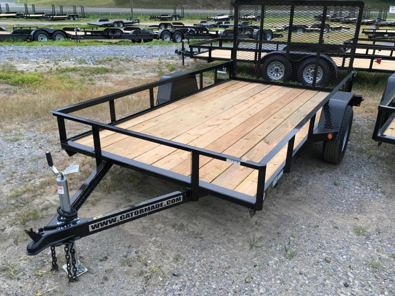 2020 Gatormade Trailers 76x12 gate single axle Utility Trailer