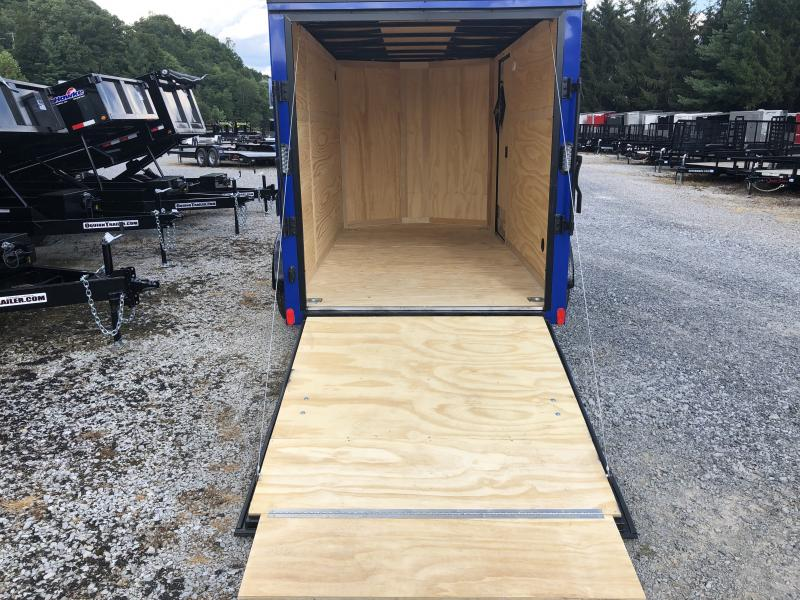 2020 Continental Cargo 6x12 V-Nose Black Out Side Door Ramp Door Enclosed Cargo Trailer