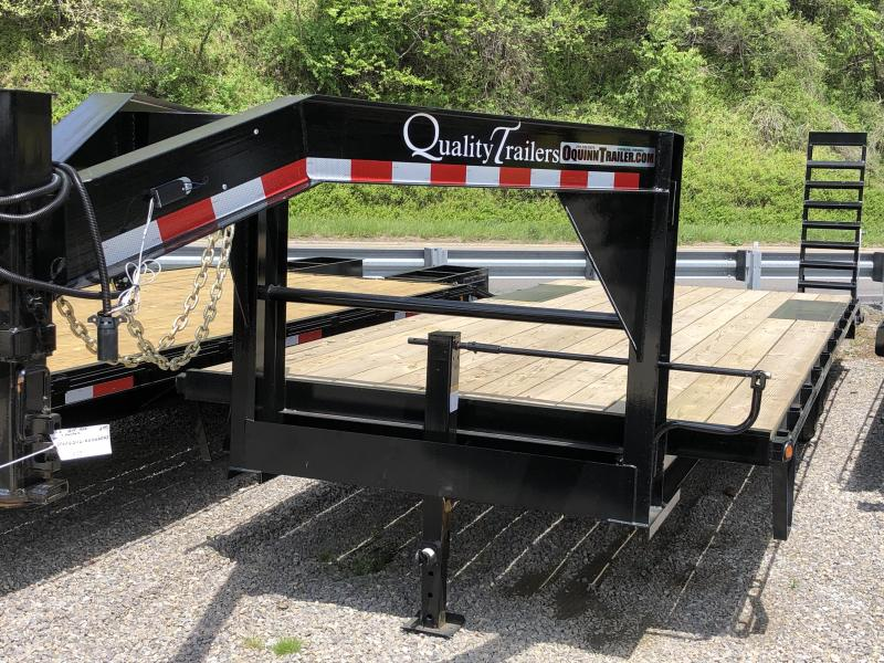 2019 Quality Trailers 24ft 20plus4 7ton Gooseneck Deckover Equipment Trailer