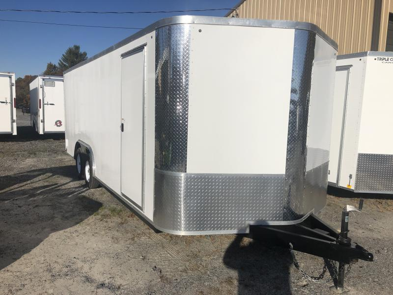 USED 2019 Arising 8.5x20 3 1/2 ton car hauler Enclosed Cargo Trailer