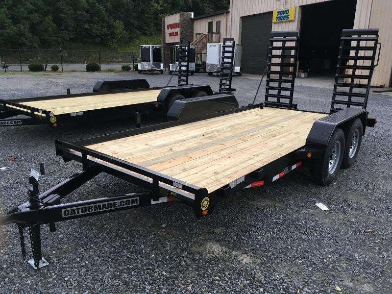 2020 Gatormade Trailers 82x16 7ton skid steer Equipment Trailer