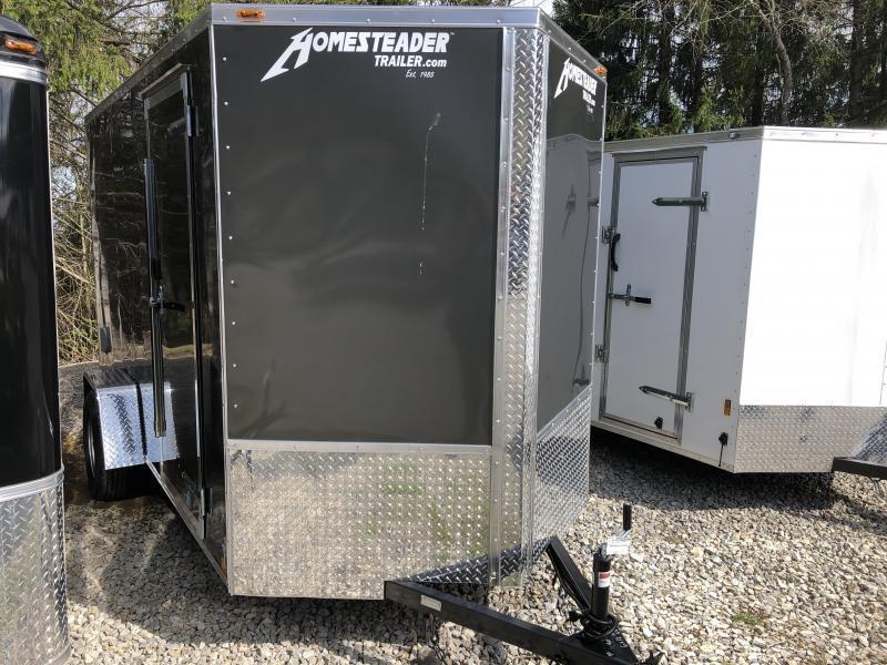"2020 Homesteader Inc. 6x12 intrepid 6"" extra ht single axle ramp Enclosed Cargo Trailer"