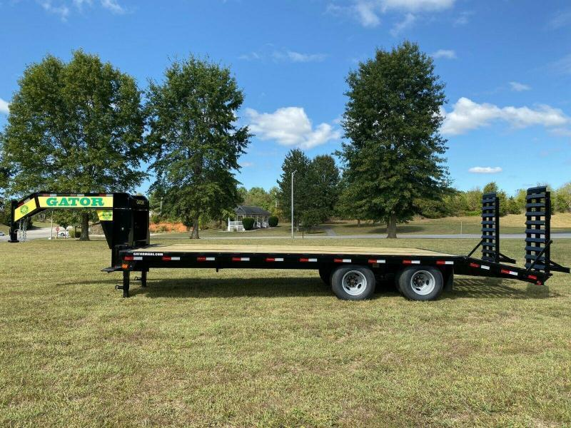 2020 Gatormade Trailers 25 tandem dual gooseneck Husky stand ramp Edition Equipment Trailer