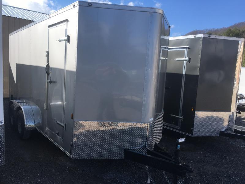 """2020 Continental Cargo 7x16 vnose 5ton 12"""" extra ht. sd ramp door Enclosed Cargo Trailer"""
