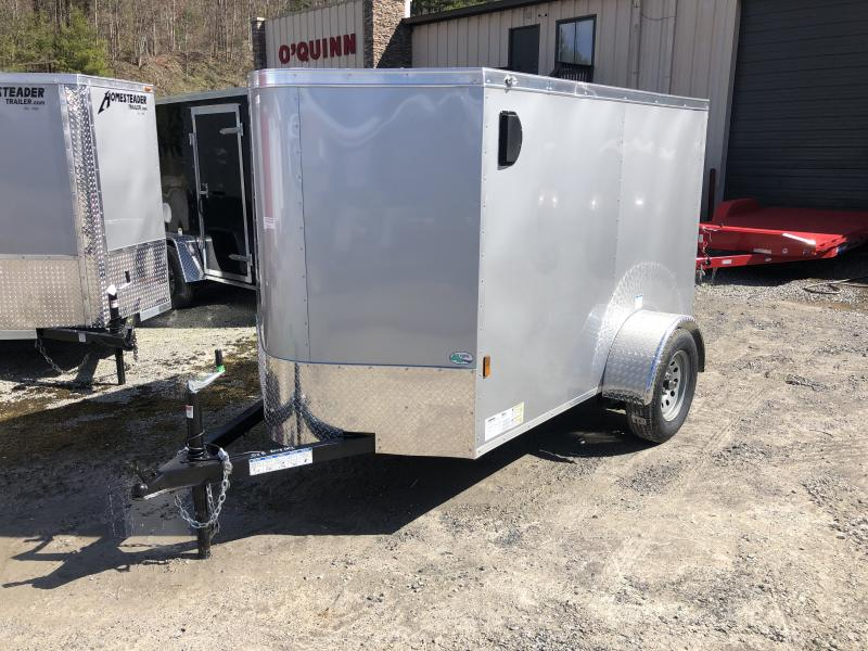2021 Continental Cargo 5X8 V-nose Ramp Door Only Enclosed Cargo Trailer