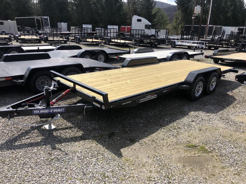 2020 Sure-Trac 82X20 Manual Tilt Wood 7k Car Hauler Alum Wheels Car / Racing Trailer