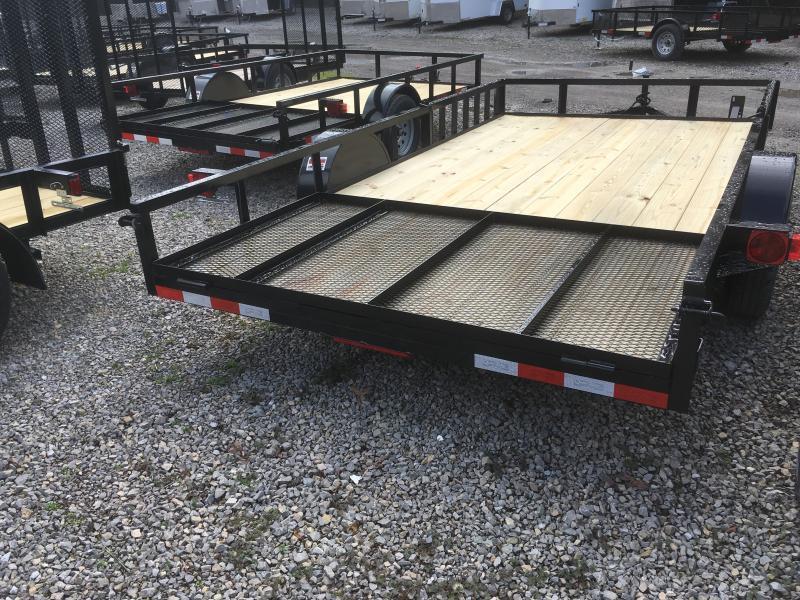 2019 Quality Trailers 82x14 side load ramps single axle w/gate Utility Trailer