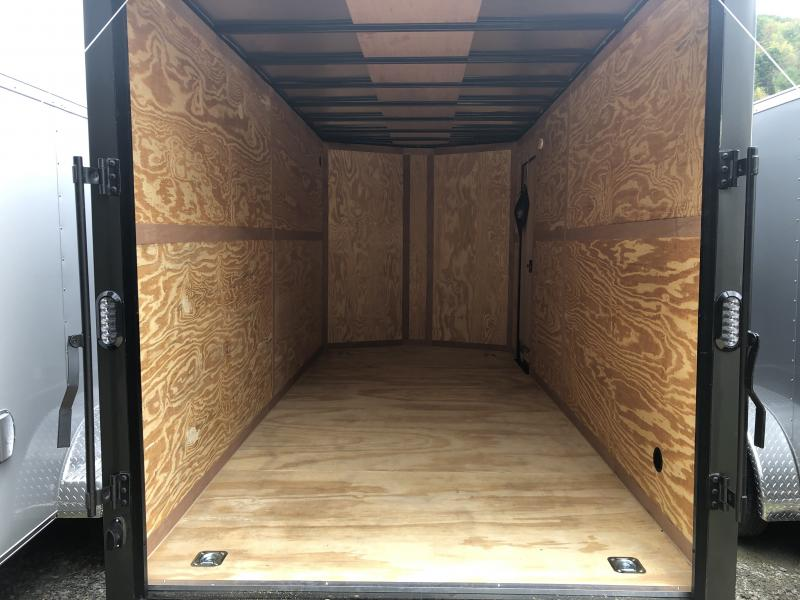 "2020 Continental Cargo 7x16 vnose 12"" extra ht sd ramp blackout"