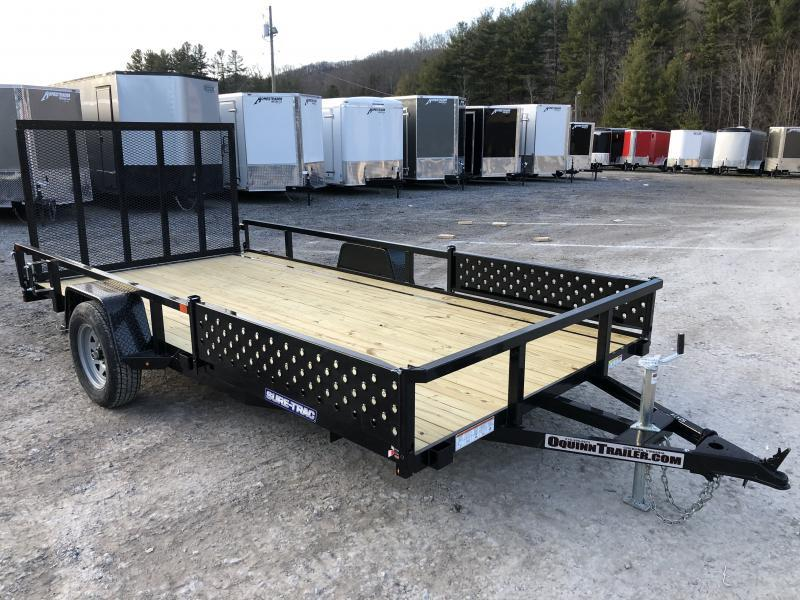 2020 Sure-Trac 82x14 ATV Side Load Ramps Single Axle Utility Trailer