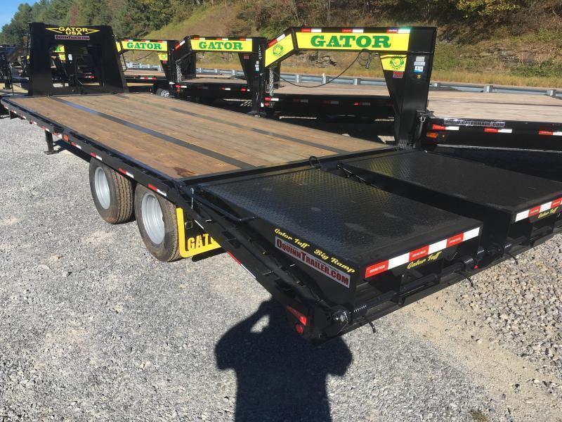 2020 Gatormade Trailers 25 20+5 tandem dual workhorse gooseneck with big Goliath ramps Equipment Trailer