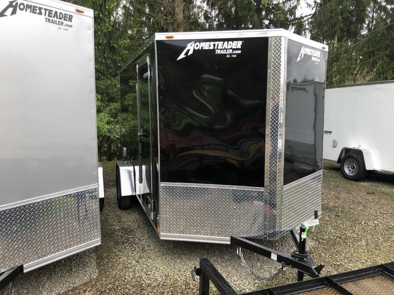 2020 Homesteader 7x12 Intrepid single axle 6in extra ht sd ramp door Enclosed Cargo Trailer