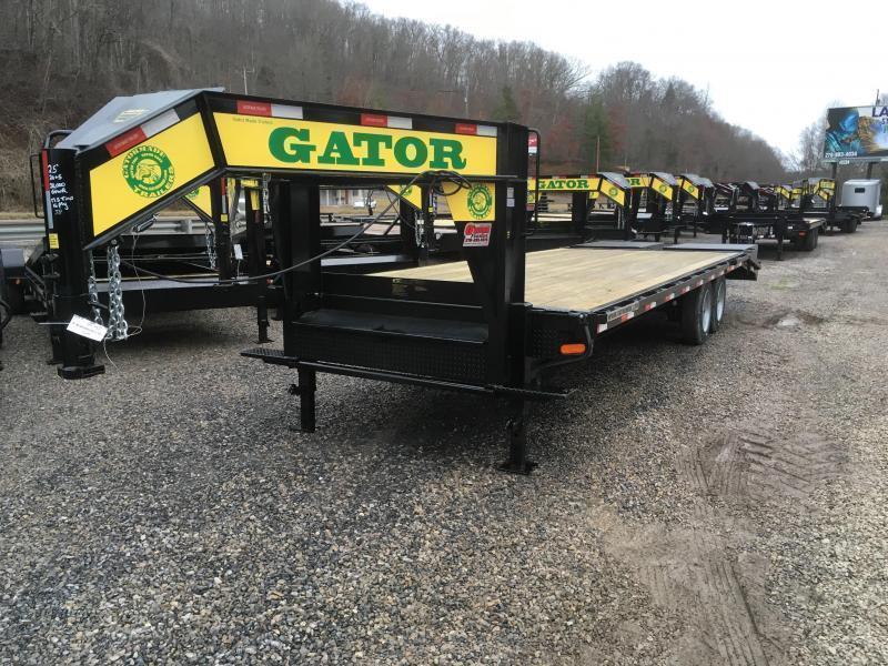 2020 Gatormade Trailers 25ft 20K 17.5 tires Gooseneck big goliath ramps Equipment Trailer