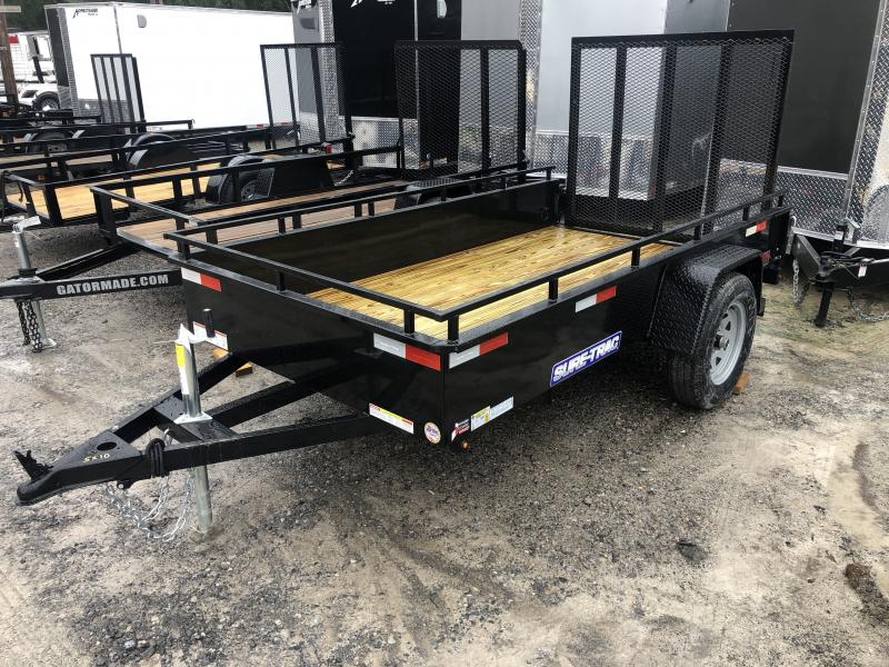 2020 Sure-Trac 5x10 Single Axle Solid Steel Sides Utility Trailer