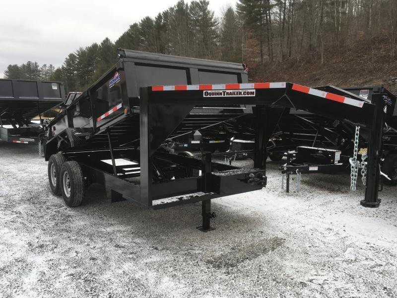 2020 Hawke Trailers 7X14 7TON GOOSENECK WITH TARP Dump Trailer
