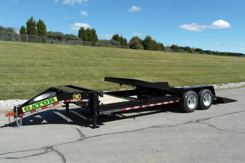2020 Gatormade Trailers 17600GVWR Aardvark Tilt 24ft 4+20 Equipment Trailer
