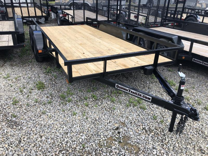 2020 82x16 tandem utility with brakes and no gate w/slide under ramps utility