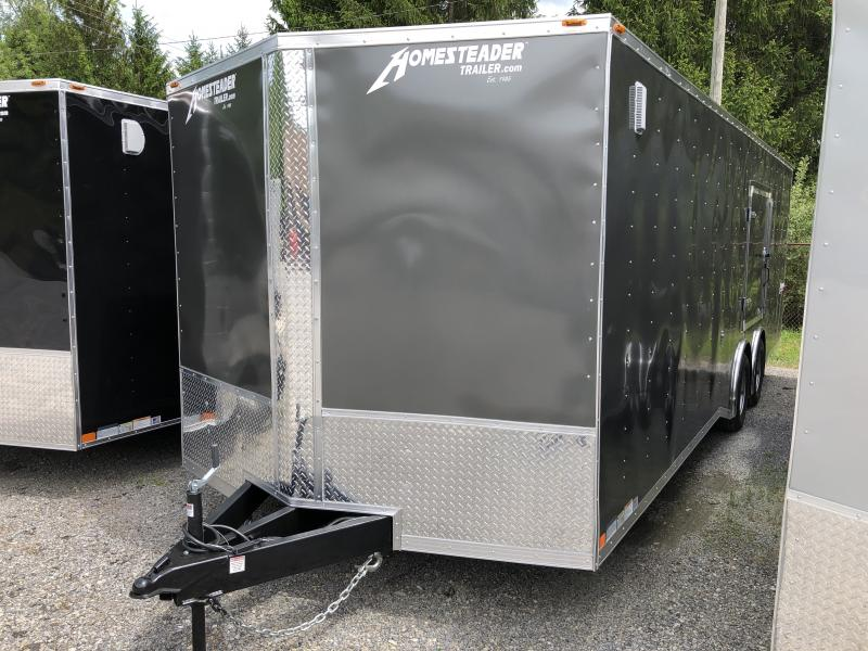 2019 Homesteader 8.5x24 Intrepid 5 ton spread axle escape door car hauler Enclosed Cargo Trailer