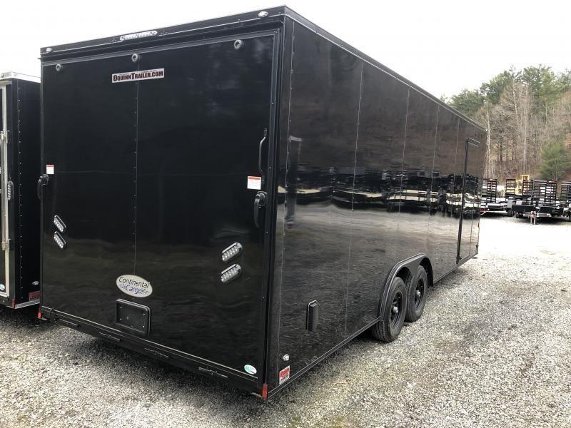 """2020 Continental Cargo 8.5x24 6"""" extra ht blackout 5ton car hauler Enclosed Cargo Trailer"""