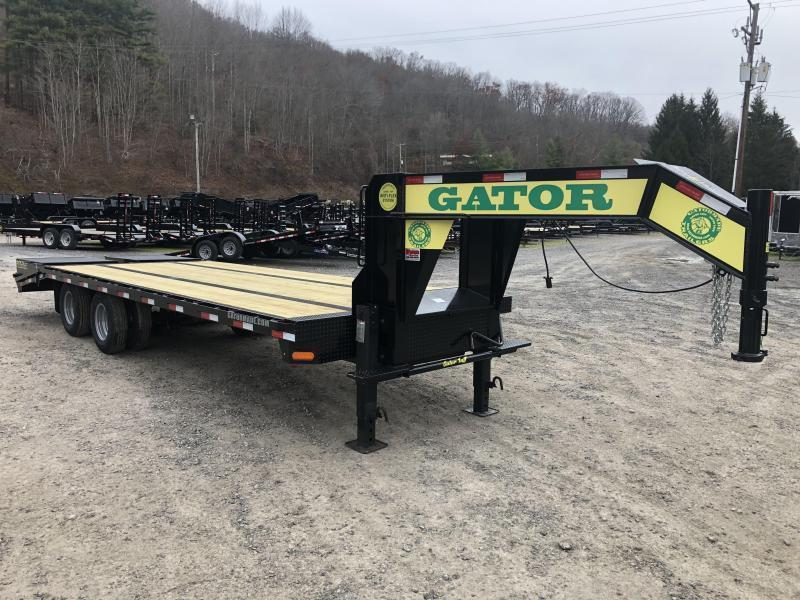 2020 Gatormade Trailers 25 20+5 tandem dual workhorse gooseneck with big Goliath ramps Equipment Trailer