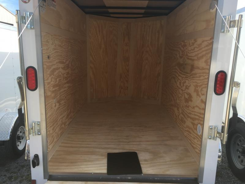 2020 Continental Cargo 5X8 V-nose Ramp Door Only Enclosed Cargo Trailer