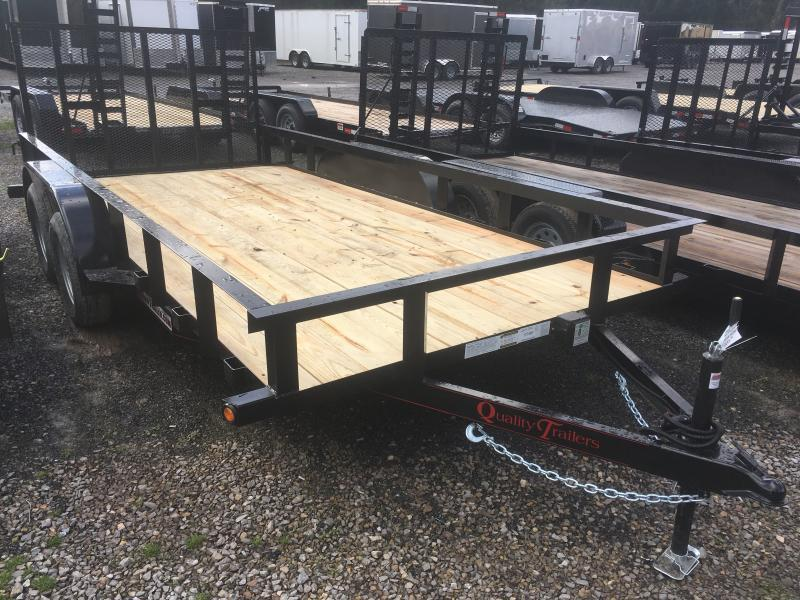 2020 Quality Trailers 82x16 dovetail 4brake HD Gate Utility Trailer