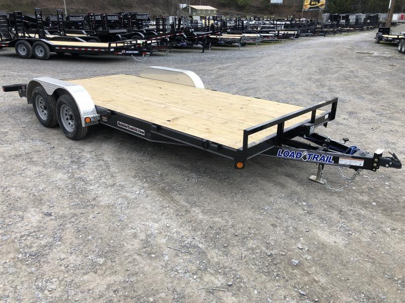 2020 Load Trail 83X18 Wood Car Hauler Alum Removable Fenders Car / Racing Trailer