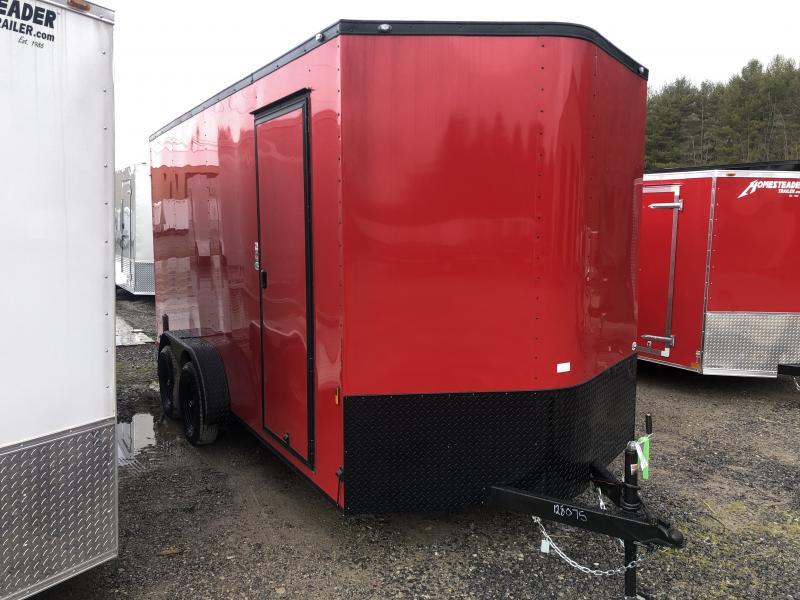"2021 Continental Cargo 7x16 vnose 12"" extra ht sd ramp blkout"