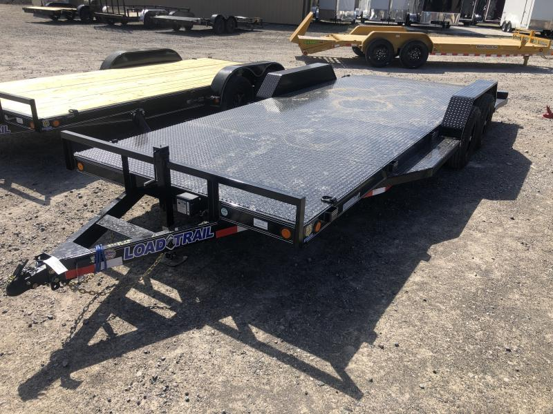 "2020 Load Trail 83X20 5TON Steel Floor Car Hauler 5""channel frame removable fenders running boards"