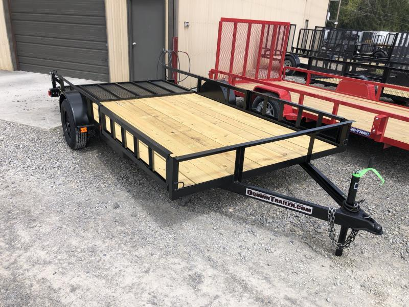2020 Triple Crown 82x14 single axle side load ramps w/gate Utility Trailer